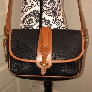 Dooney & Bourke Vintage black leather crossbody